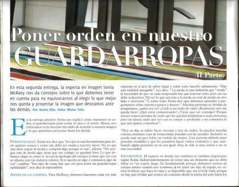 PONER ORDEN A NUESTRO GUARDARROPA Parte II BONITA LA NACION Sonia McRorey Asesora de Imagen Asuncion Paraguay
