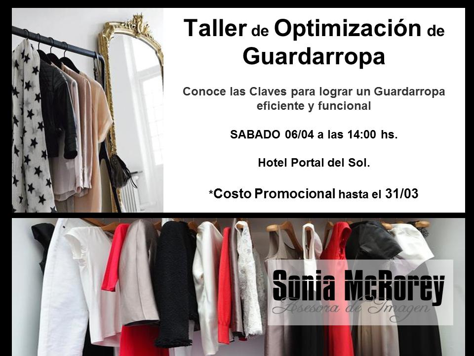 Taller de Optimizacion de Guardarropa.Sonia McRorey.Asesoria de imagen