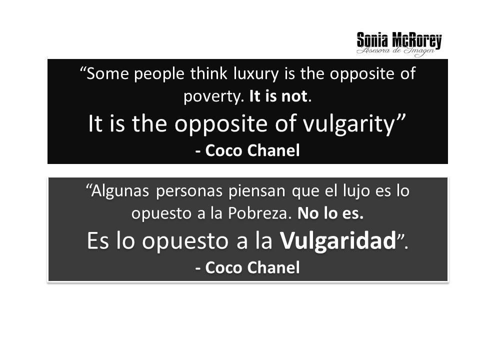 Lujo Coco Chanel - SoniaMcRorey Asesora de Imagen en Asuncion Paraguay