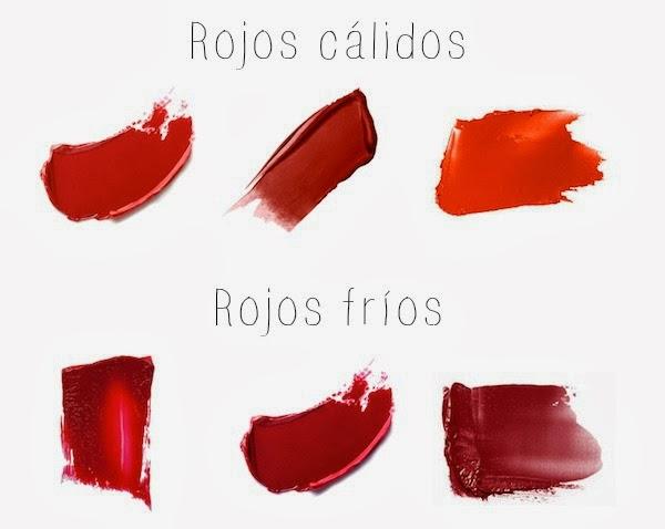 Rojos cálidos y fríos makeup
