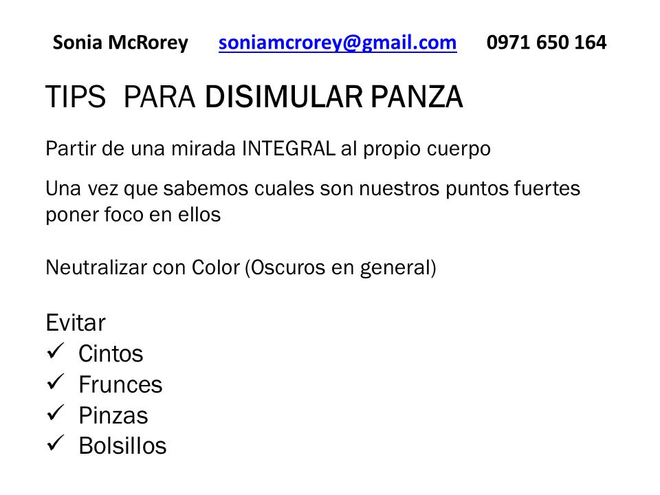 Tips disimular panza SoniaMcRorey Asesora de Imagen Asesoria Asuncion Paraguay 1