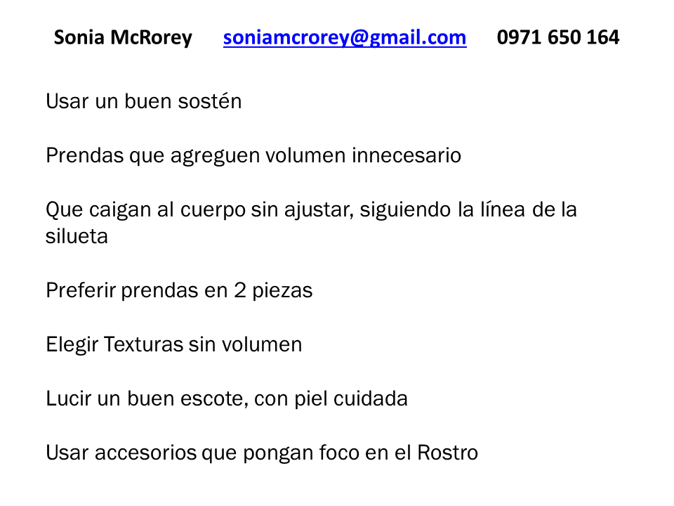 Tips disimular panza SoniaMcRorey Asesoria de Imagen Paraguay 2