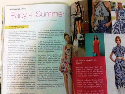 Party Summer Tendencias para las fiestas y el verano Solmag Trendy Girl Colaboracion Sonia McRorey Asesora de Imagen