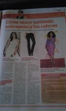Colaboración para el Suplemento VIVIR Bien del Diario Extra Paraguay - Seccion Asesoria de Imagen - Sonia McRorey