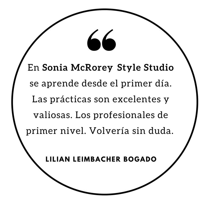 En Sonia McRorey Style Studio se aprende desde el primer día. Las prácticas son excelentes y valiosas. Los profesionales de primer nivel. Estudio de Asesoria de Imagen - PersonalShoppe